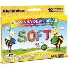 Masa Para Moldear Acrilex Colores Soft Ref. 7312 12 U
