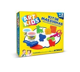 Kit Masa Para Moldear Acrilex 2 Colores + 7 Animales Zoo 9 U