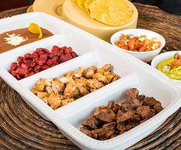 Taquiza, 1 Carne y Chorizo