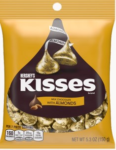 Hersheys Kisses Milk Chocolate With Almond