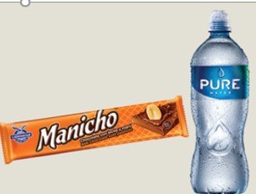 Chocolate Manicho Universal 28 g  + Agua Pure Water 1 L