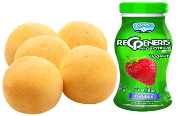 5 Panes De Yuca+Yogurt Regeneris Frutilla 180 g