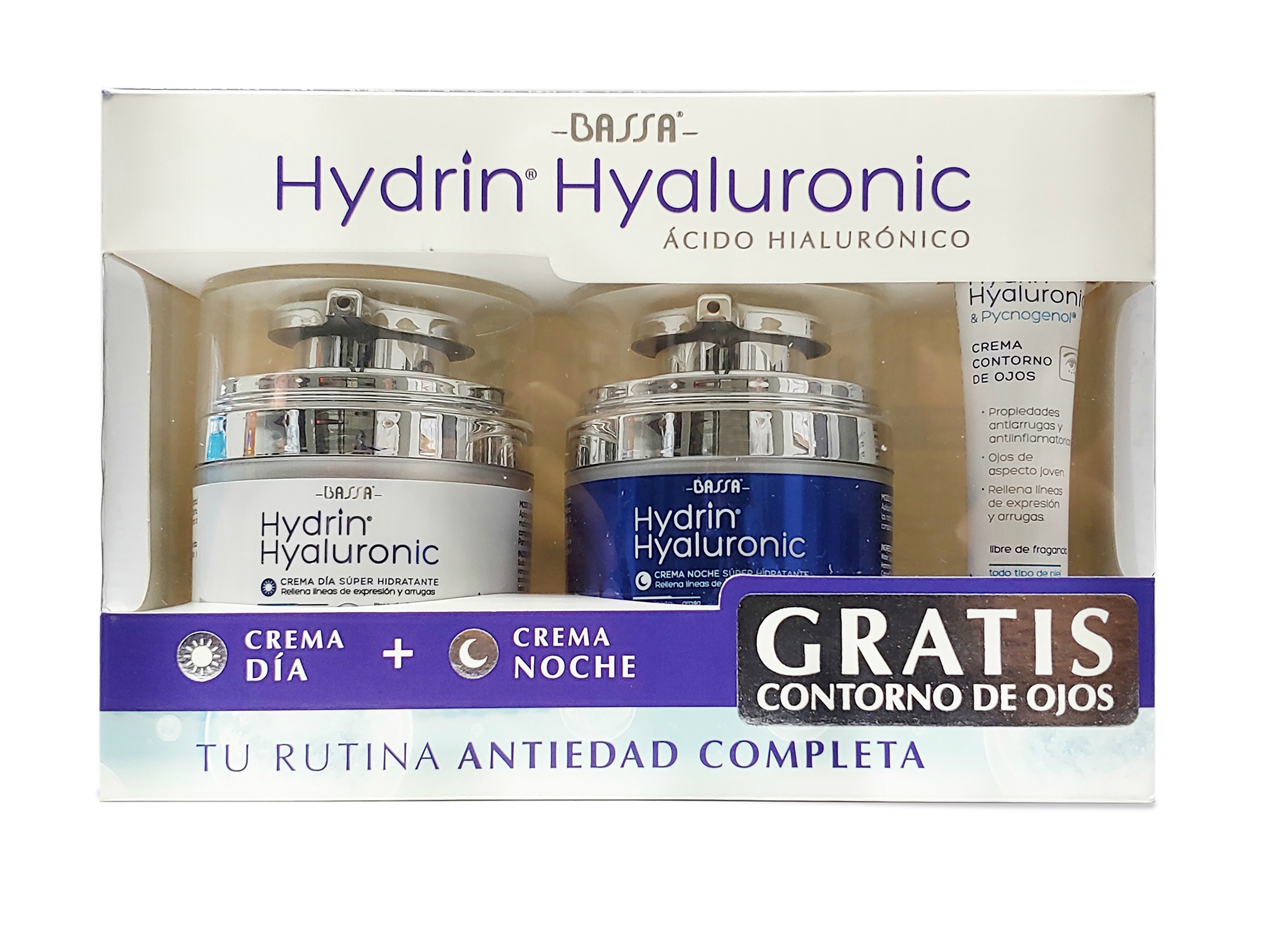 Kit Hydrin Hyaluronic (Día + Noche + Contorno)