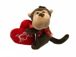 Peluche Corazón Mono