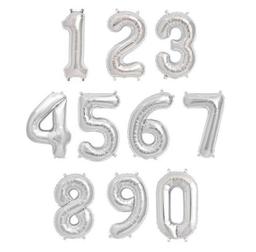 Globos Metálicos 16 Plateados