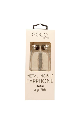 Gogotech Audifonos Plateado Metal Mobile Earphone