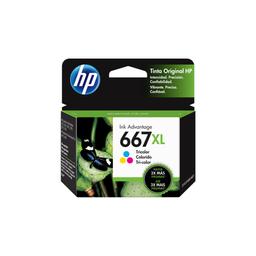 HP Cartucho de Tinta 667XL Tricolor