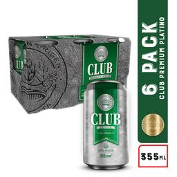 Club Platinum 6 Pack Platino Lata
