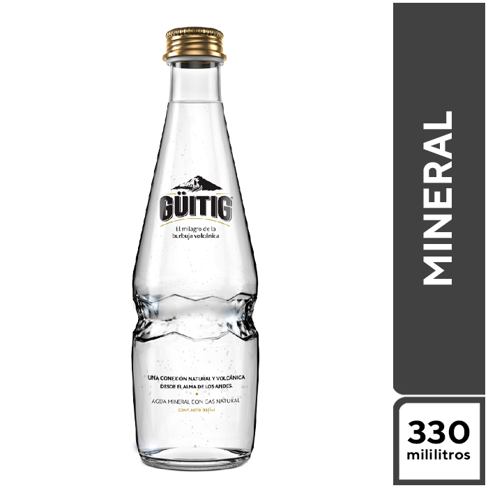 Guiting Mineral con Gas 330 ml