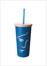 Miniso Vaso de Acero Inoxidable Para Colección 500 mL Azul