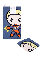 Miniso Toalla Capitán Marvel Azul