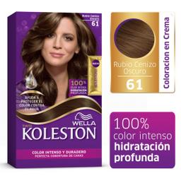 Tinte Koleston Kit 61 Rubio Cenizo Oscuro