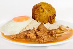 Completo de Chicharrón y Carne