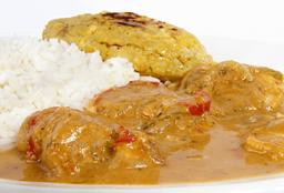 Bollo de albacora con arroz