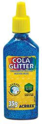 Pega Especial Con Escarcha 035Grs Azul Glitter 2912/204.4
