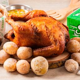 Pollo Entero + 2 COCA COLAS de 500 ml