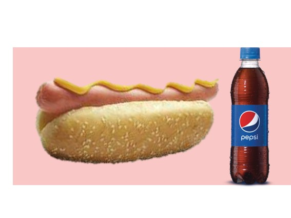 1 Hot Dog + 1 Pepsi 400 mL