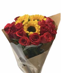 Bouquet Rosas y Girasol