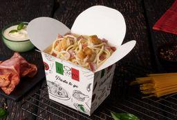 Spaghetti Carbonara con Pollo