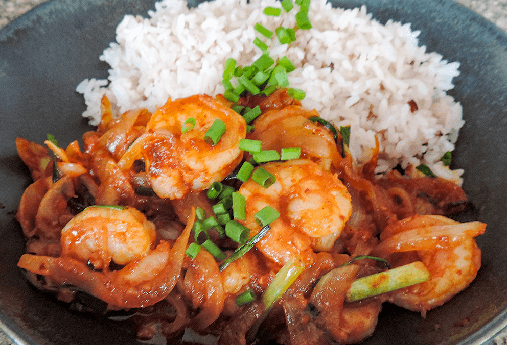Korean Chili Shrimp