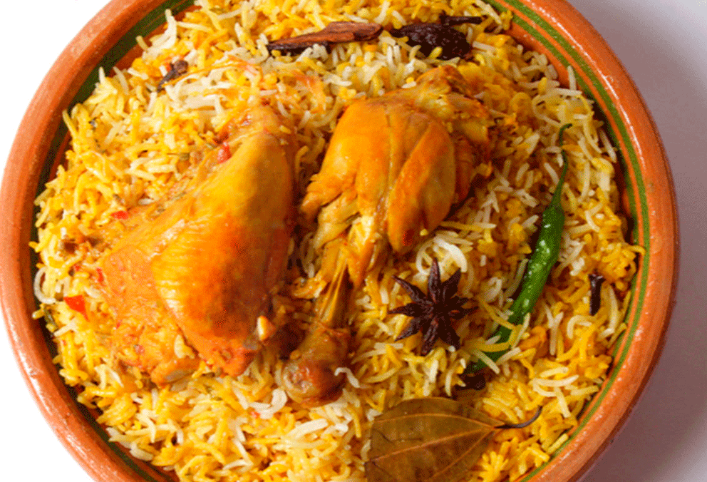 Arroz Chicken Hyderabadi Biryani