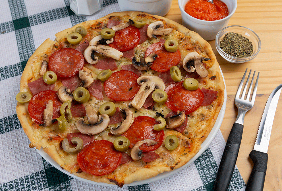 Pizza Guagua de 4 Ingredientes
