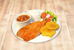 Filete de Trucha con Menestra