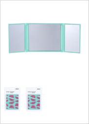 Espejo Portátil Plegable en 3 Plastico