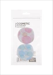 Esponja de Tela Para Maquillaje de Gotas Estampadas 2 U