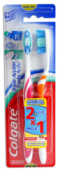 Colgate Cepillo Dental Medio 2 X 1
