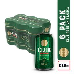 Club Premium Cerveza Club Verde Lata