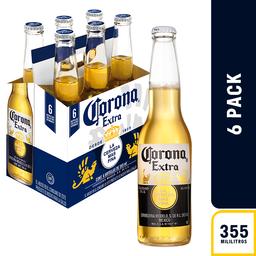 Corona Cerveza Botella X 6