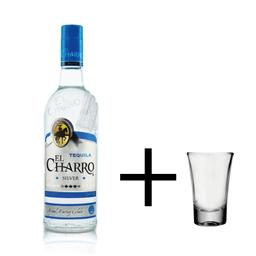 Tequila El Charro Silver + Shot
