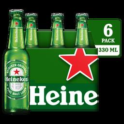 Heineken Cerveza Botella Six Pack