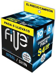 Five Preservativo Steel Ski + Lubricante
