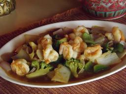 Camarones con Verduras
