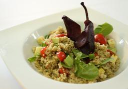 Quinoa y Peras al Vino