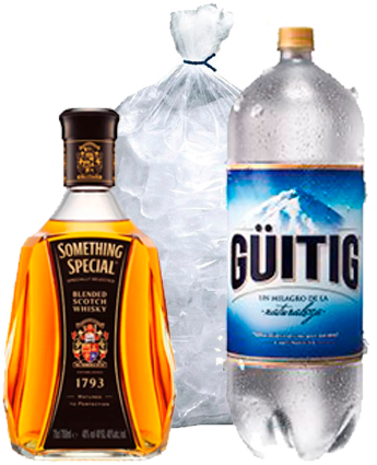 Whisky Something Special mas Hielo y Guitig