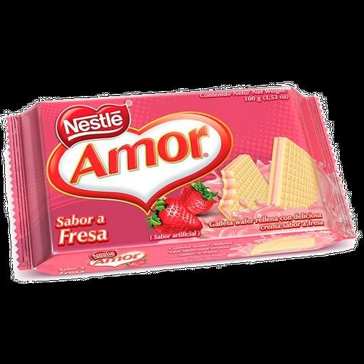 Wafer Amor Sabor Fresa