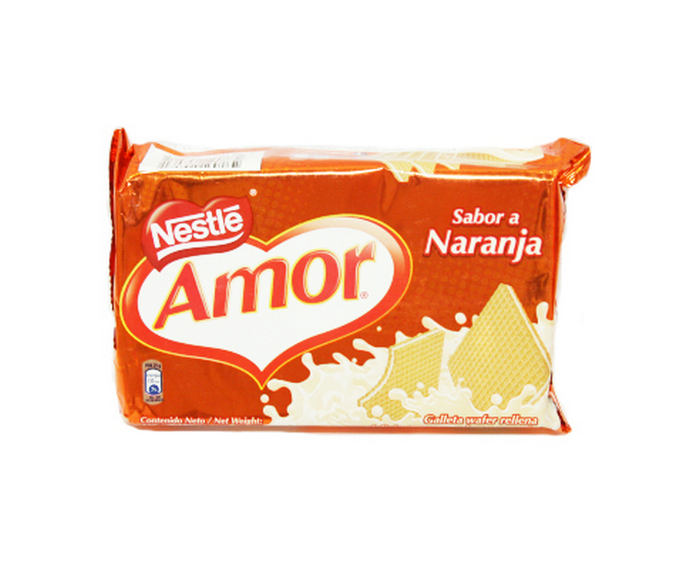 Galleta Wafer Amor Sabor Naranja