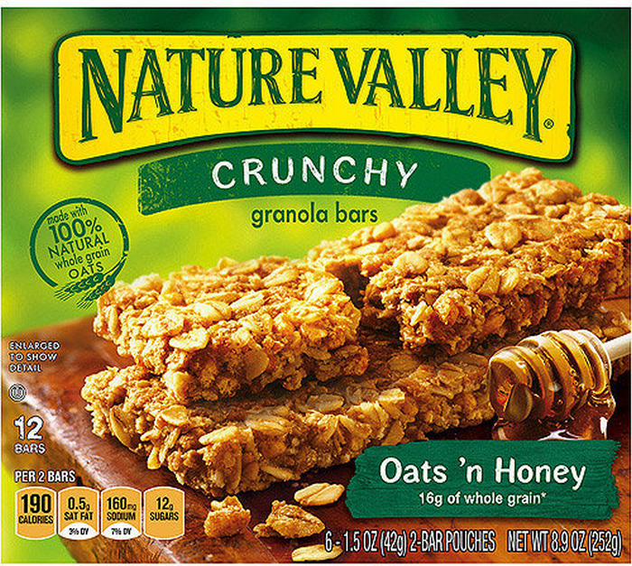 Granola Bars Crunchy Nature Valley Oats N' Honey 252 g