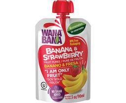 3x2 Wanabana Jugo Puré De Banano Fresa Doy Pack