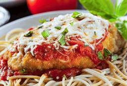 Spaguetti Chicken Parmegiana