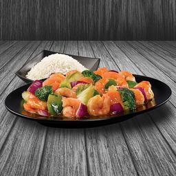 Camarón con Verduras