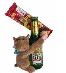 Peluche Con Cerveza y Chocolate