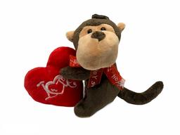 Peluche de Mono Con Corazón