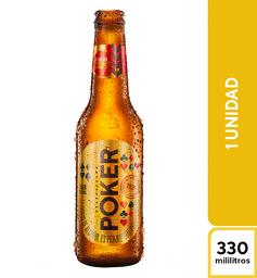 Cerveza Poker 330 Ml