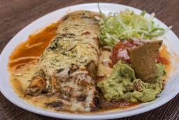 Burrito Gratinado Carne Mechada