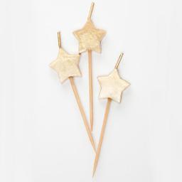 Velas Estrellas Doradas (6 U.)