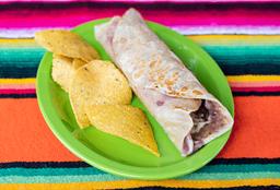 Burrito con bebida